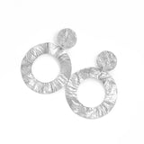 La ROTUNDA 'FOIL' Statement Earrings - Silver