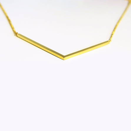 La 'V' Tube Necklace - SALE