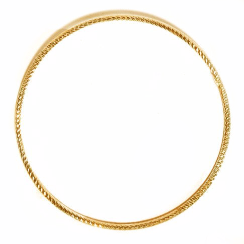 La ROMA DIAMOND-CUT Bangle - Yellow