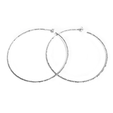 La SARDEGNA Sterling Silver Hoop Earrings with Chiselled Laser-cut Technique