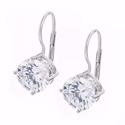 La MONICA 'DIAMANTE' DROP Wire Earrings CZ
