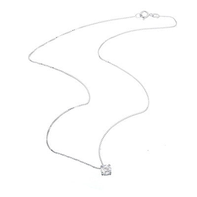 La MONICA CZ Pendant on Delicate Silver Chain