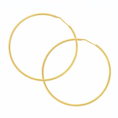 La CHICA LATINA Yellow Gold Plated Hoop Earrings