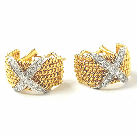 Tiffany & Co. Jean Schlumberger Rope Diamond Ear Clips