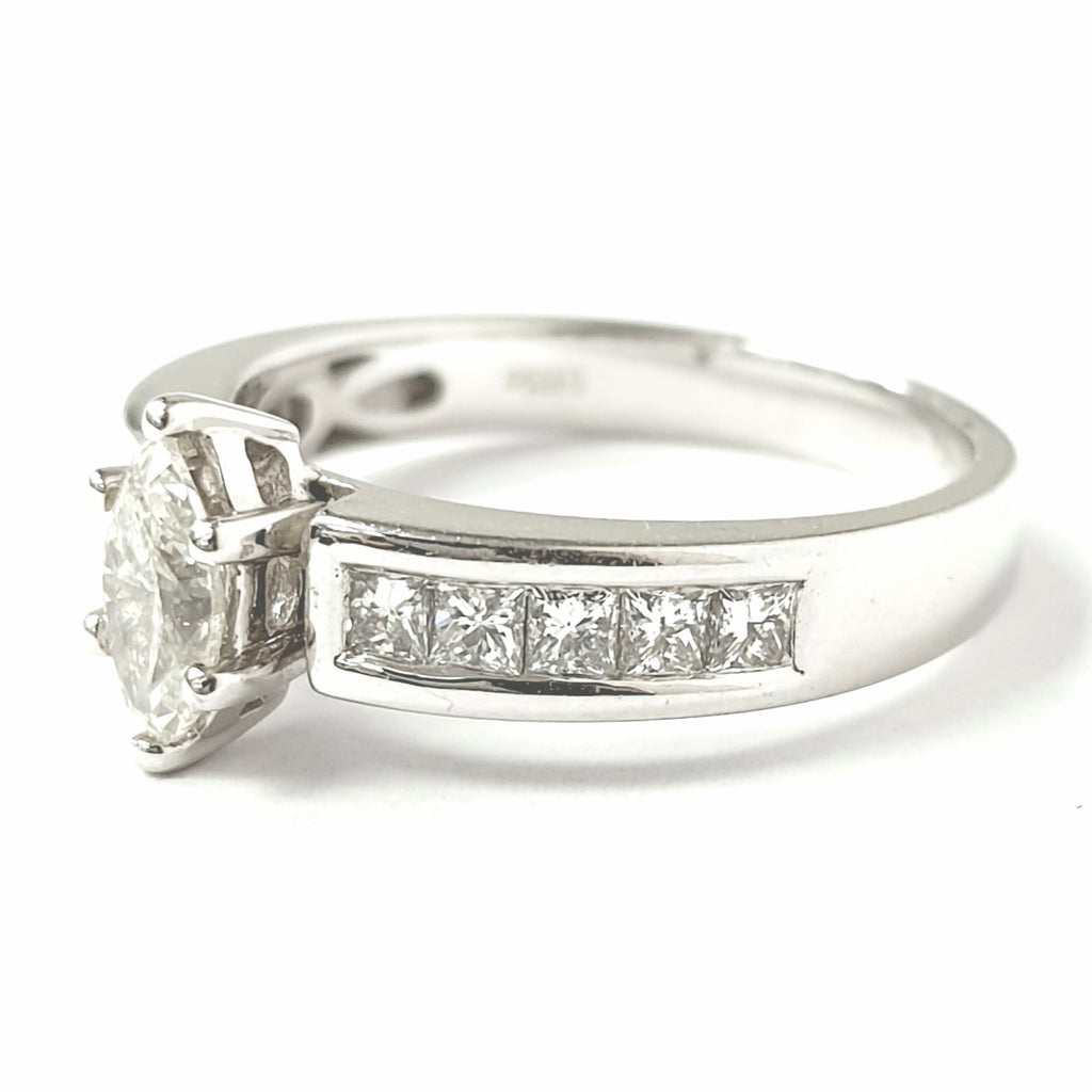 18ct White Gold Marquise Diamond Ring 0.93ct