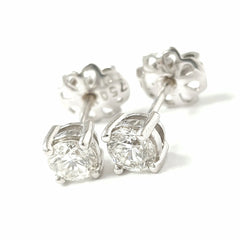 18ct White Gold Diamond Studs 0.77ct
