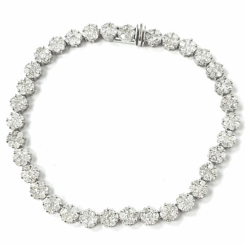 14ct White Gold Diamond Bracelet 2.75ct
