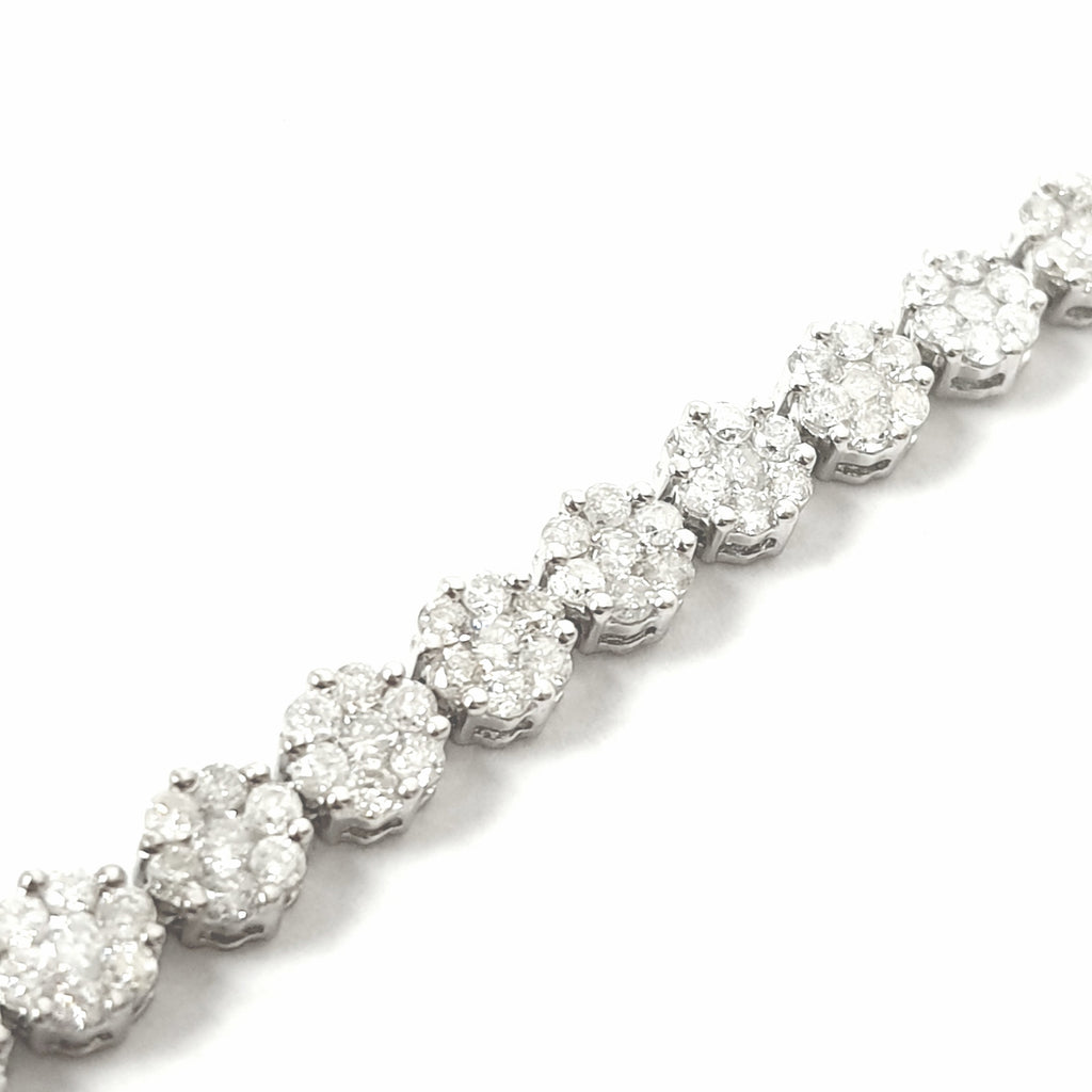 14ct White Gold Diamond Bracelet 2.64ct