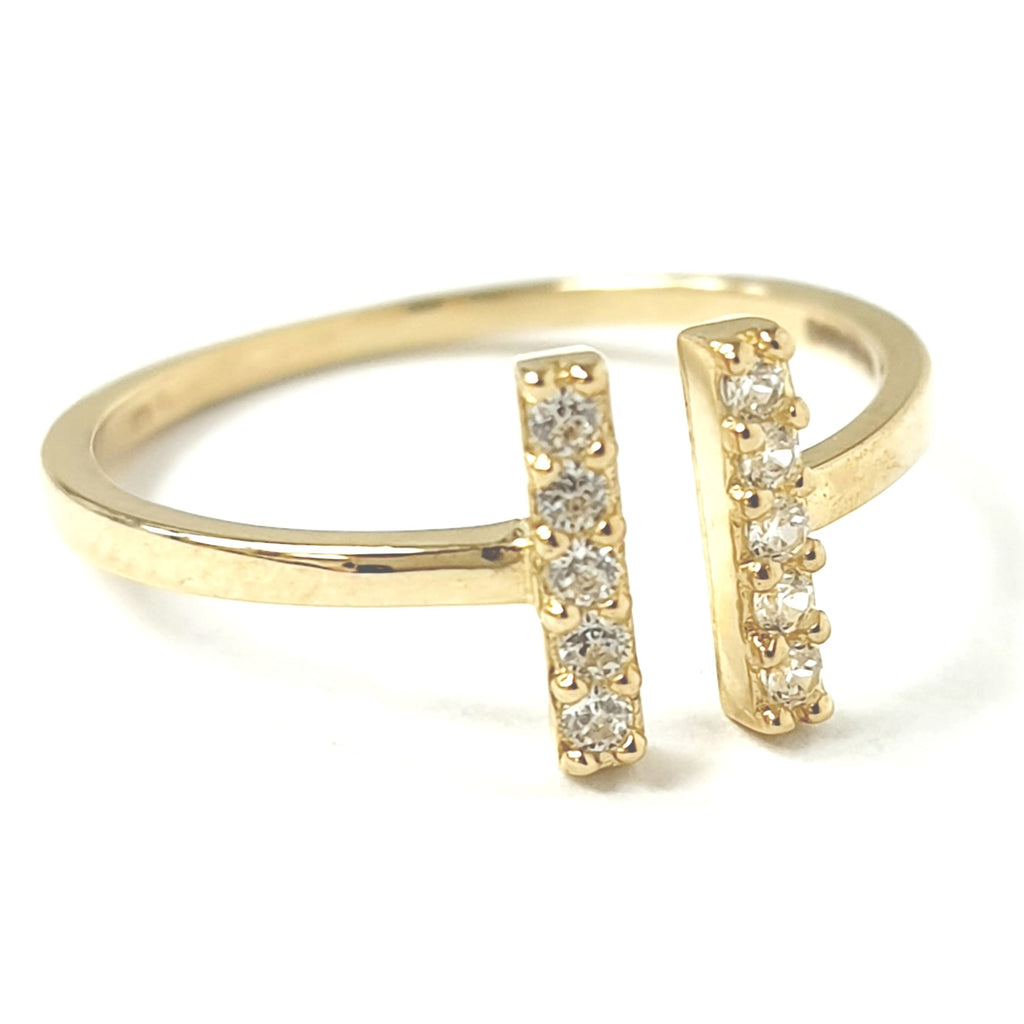 9ct Gold Double Bar Ring