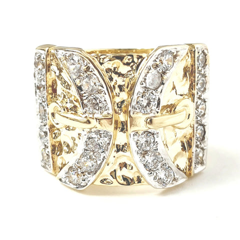 9ct Gold Double Buckle Ring
