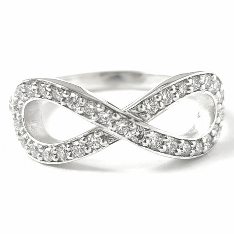 Platinum Diamond Infinity Ring 0.46ct