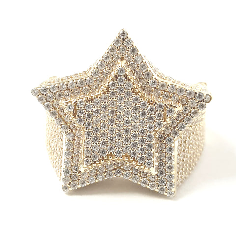 9ct Gold Star Ring