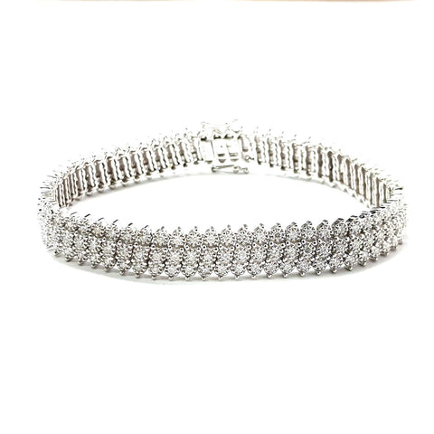 9ct White Gold Diamond Bracelet 3.00ct