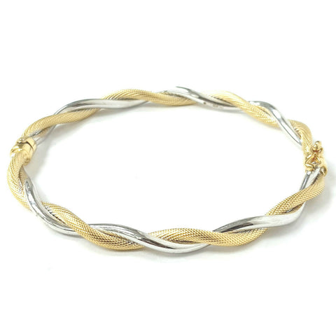 9ct Gold Fancy Square Curb Bracelet
