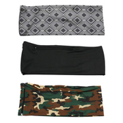 3 Pack | Black, Camo, Grey Diamonds