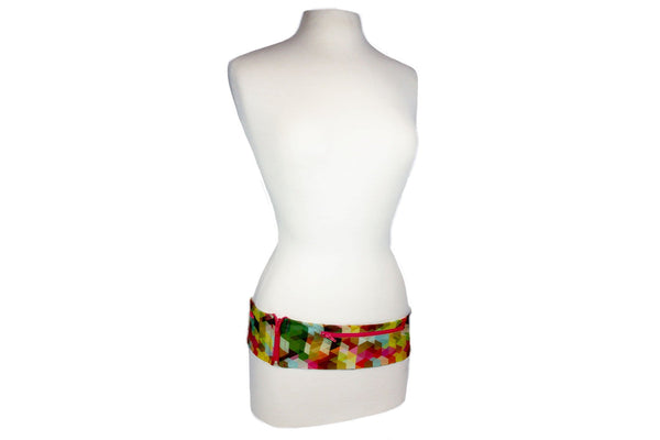 Geometric Rainbow Slim Fusion Belt