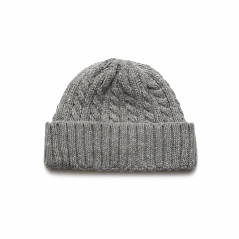 Wanderers Co 'Wool Cable Knit - Grey' Beanie