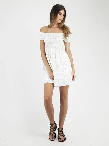 Delilah 'Polka - White' Dress