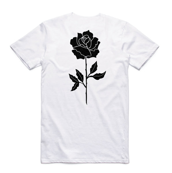 In Bloom - In Bloom 'Rose - White' Tee - T-Shirt - Stock & Supply Stores