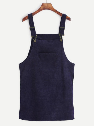 Wanderers Co 'Corduroy - Navy' Pinafore Dress