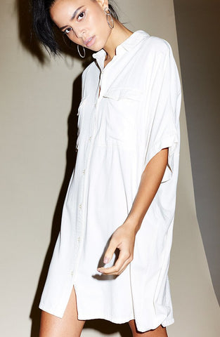 Evil Twin 'Altercation - White' Shirt Dress