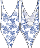 Snorkelbear Swimwear - Snorkelbear 'Eastwood - Blue China' Swimsuit - Women's Swimsuits - Stock & Supply Stores