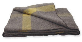 Mountain Supply 'Vintage Grey Wool' Blanket
