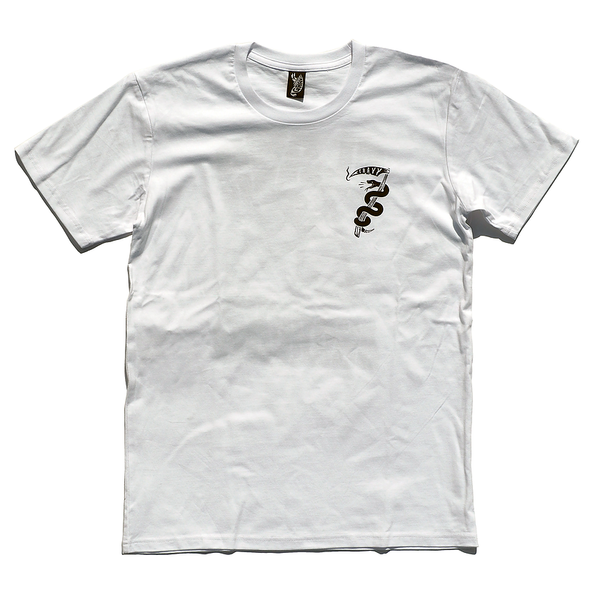 Gravy Brand - Gravy Brand 'Slash & Burn - White' Tee - T-Shirt - Stock & Supply Stores