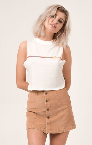 Afends 'Wind - Natural' Crop Bandcut Tee - LAST ONE!!!