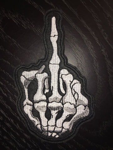 Patch & Pin 'The Skeleton Finger' Patch