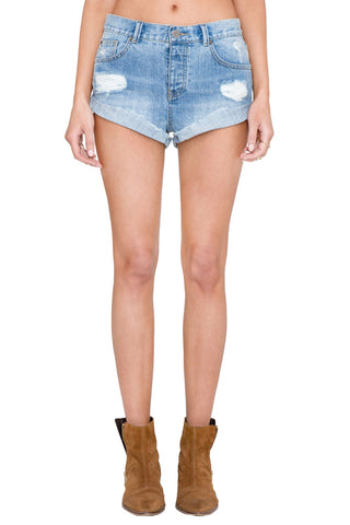 Amuse Society 'Crossroad - Faded Indigo' Denim Short - LAST ONE!!!