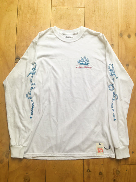 Lobster Shanty - Lobster Shanty 'Trade Winds - White' Longsleeve - T-Shirt - Longsleeve - Stock & Supply Stores