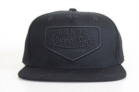 Bondi Speed Shop 'Petrol Head - Black on Black' Cap