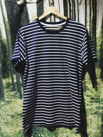 Wanderers Co 'Journal Stripe - Navy/White' Tee
