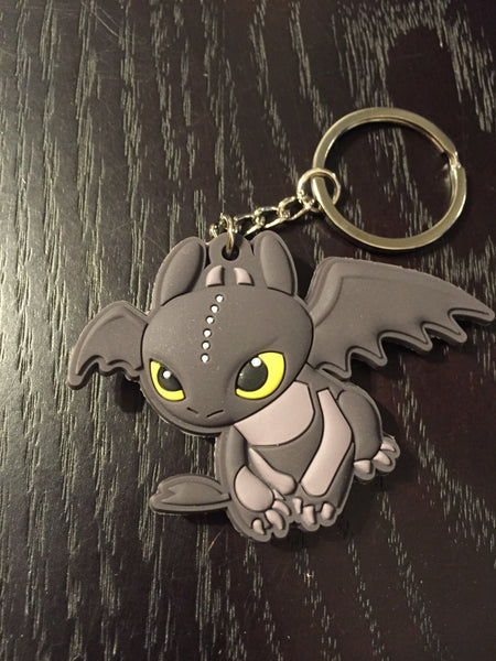 Patch & Pin 'How To Train Your Dragon - Toothless' Rubber Keyring