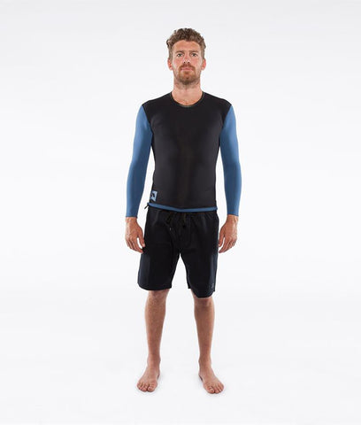 Adelio - Adelio 'Chase Cascade Blu/Blk' Reversible Longsleeve Vest - Wetsuit - Stock & Supply Stores