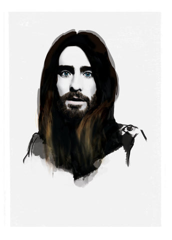 And Lizzy - And Lizzy 'Jared Leto - 30 Seconds to Mars' Print - Prints - Stock & Supply Stores