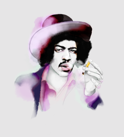 And Lizzy - And Lizzy 'Jimmy Hendrix' Print - Prints - Stock & Supply Stores