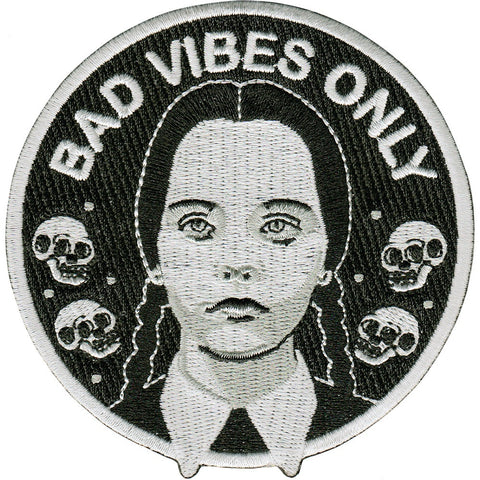 La Barbuda 'Addams Family - Bad Vibes Only' Iron On Patch