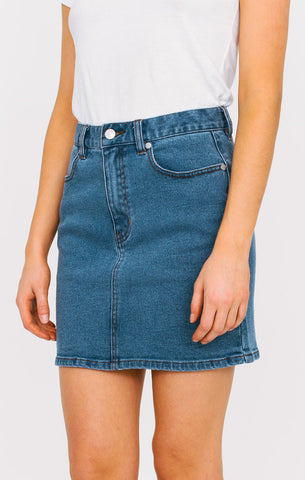 Afends - Afends 'Chevy - Vintage Blue' Denim Skirt - Women's Bottoms - Stock & Supply Stores