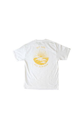 Set Sail Co - Set Sail Co 'All Summer-White' Tee - T-Shirt - Stock & Supply Stores