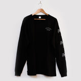 Tropical Doom 'Bones Palm - Black' Longsleeve Tee