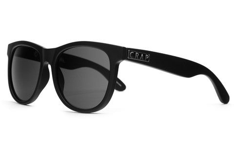 CRAP Eyewear - CRAP Eyewear 'Nudie Mag - Flat Black/Grey CR39' Sunglasses - LAST ONE!!! - Sunglasses - Stock & Supply Stores