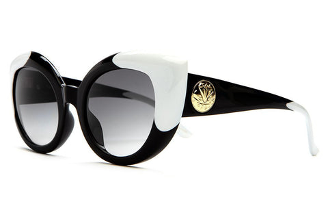 CRAP Eyewear 'Diamond Brunch - Glack w/ White Tips / Grey Gradient' Sunglasses