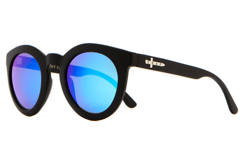 CRAP Eyewear - CRAP Eyewear 'T.V. Eye - Flat Black/Blue' Sunglasses - Sunglasses - Stock & Supply Stores
