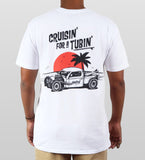 Kingfruit 'Cruisin for a Tubin' - White' Tee