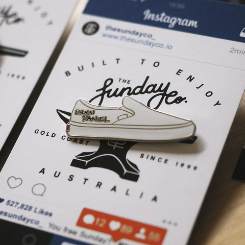 The Sunday Co - The Sunday Co 'Damn Daniel Vans' Pin - Patches & Pins - Stock & Supply Stores