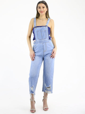Delilah 'Loveless - Light Denim' Overalls