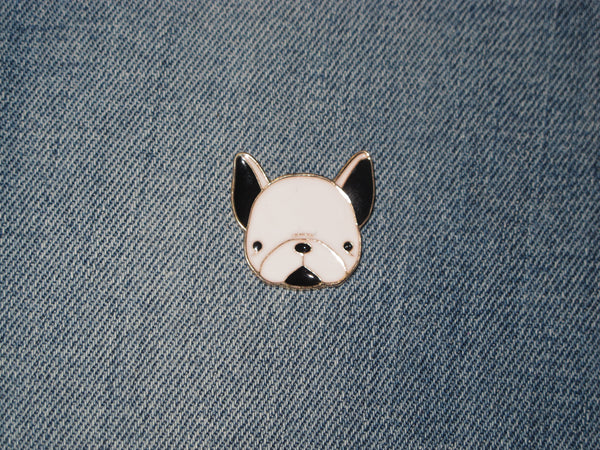 Patch & Pin 'French Bulldog - Head' Badge Pin