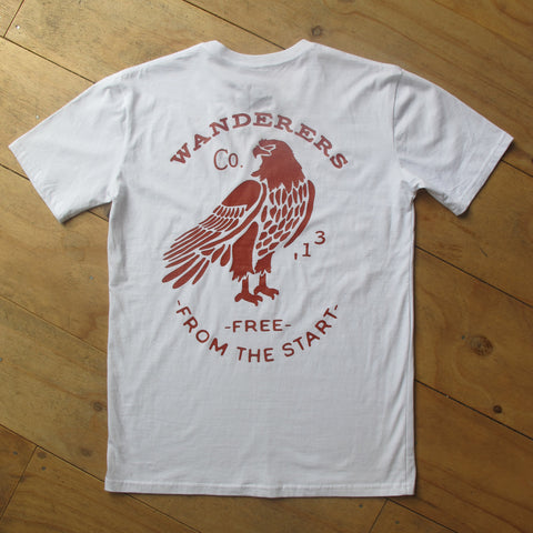 Wanderers Co 'From the Start - White/Red' Tee LIMITED EDITION!!!